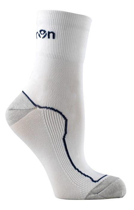 WHITE/NAVY Race 02 Running Socks