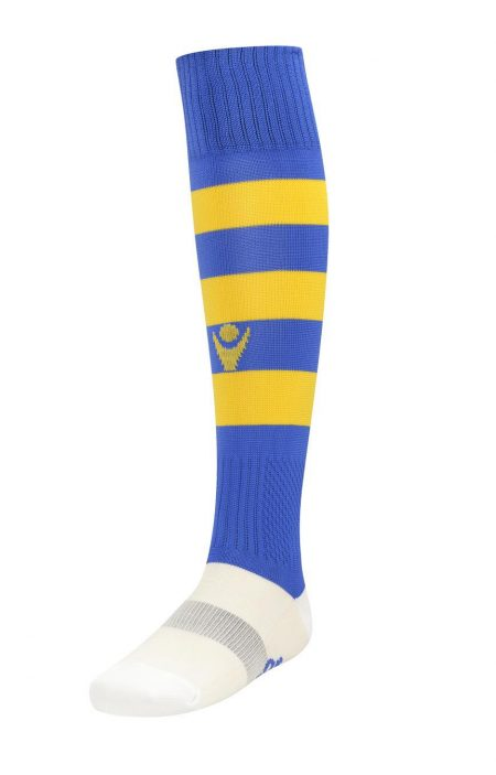 ROYAL/YELLOW Hoops Bicolour Socks