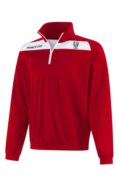 RED/WHITE HRBFC Youth Epic Nile 1/4 Zip Top