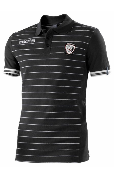 BLACK/WHITE Hereford FC Jungle Polo Shirt