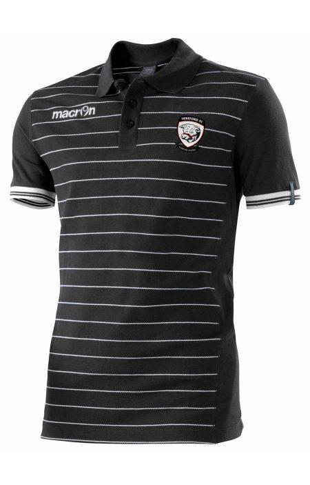 BLACK/WHITE Hereford FC Jungle Polo Shirt
